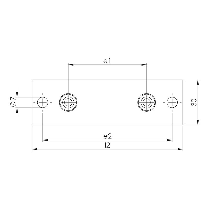 Schweißplatte Teil 1 - lange Ausführung (L) - 2
