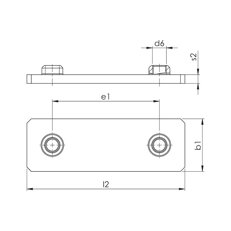 Schweißplatte Teil 2 - einfache Ausführung (A) - 2