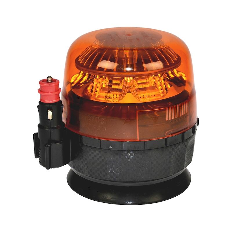 Gyrophare LED Fixation magnétique et ventouse - 1