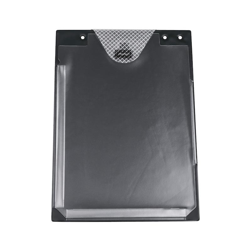 Auftragsschutztasche mit Klettverschluss und Falz - SHTZTASH-FUER-AUFTRG-KLETT-FALZ-SCHWARZ