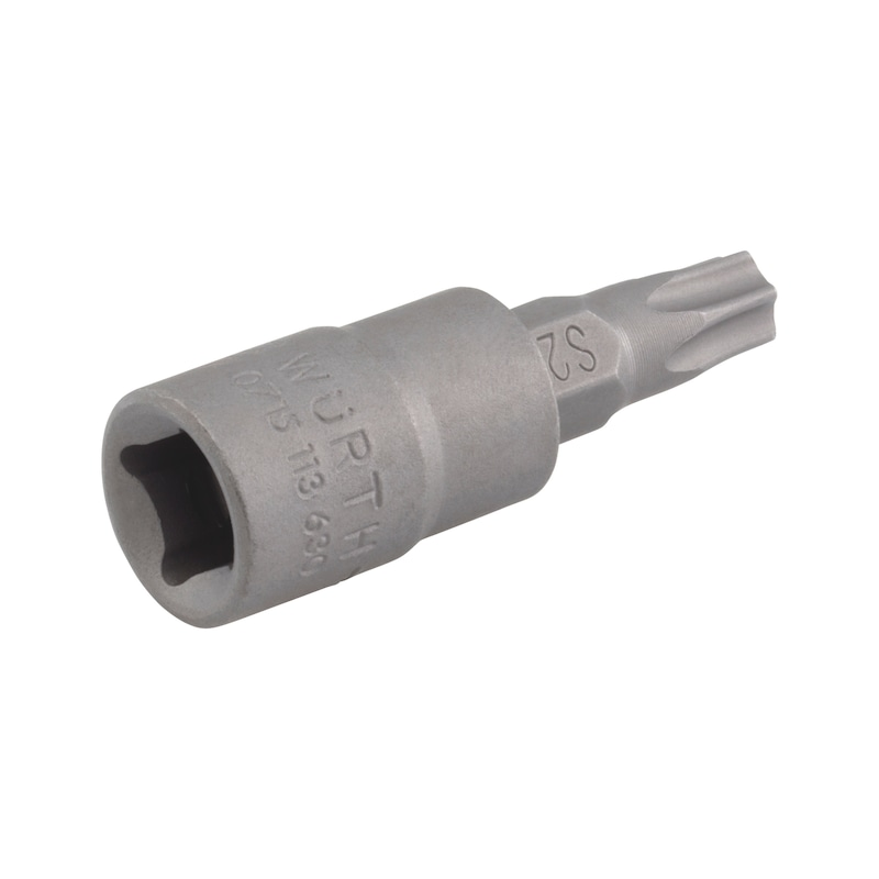 1/4 Zoll Steckschlüsseleinsatz TX mit Lochbohrung - STESHSL-1/4ZO-TX10-LOCHBOHRUNG-37MM