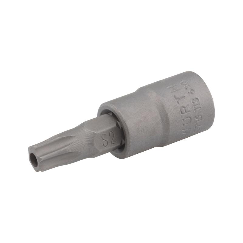 1/4 Zoll Steckschlüsseleinsatz TX mit Lochbohrung - STESHSL-1/4ZO-TX27-LOCHBOHRUNG-37MM