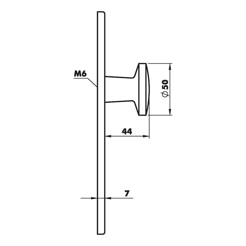 Wechselgarnitur  AL 200/AL 11 - TD-ALU-AL200/11-WE-LANGSHLD-PZ-L/R-NSILB