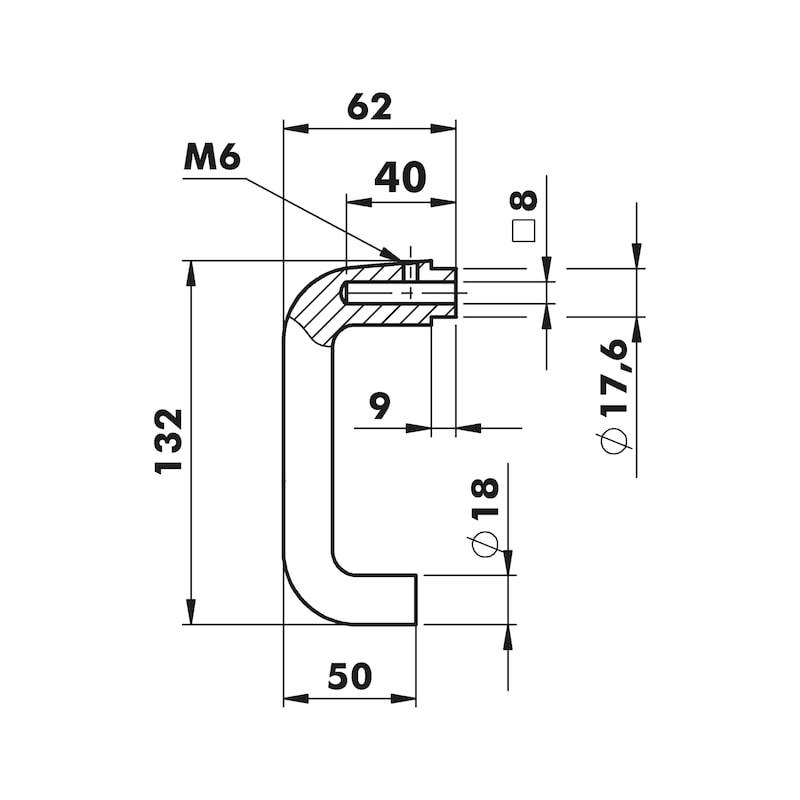 Wechselgarnitur AL 120/AL 20 - TD-ALU-AL120/20-WE-KURZSHLD-PZ-L/R-NSILB