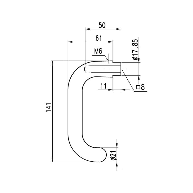 Türdrücker  A 322 U-Form - 3