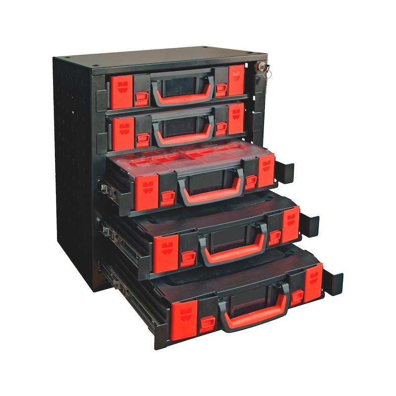 Kit d'armoire de rangement5 avec système de rangement à compartiments ORSY® - ARMOIRE RANGEMENT 4.4.1+5 COFFRETS