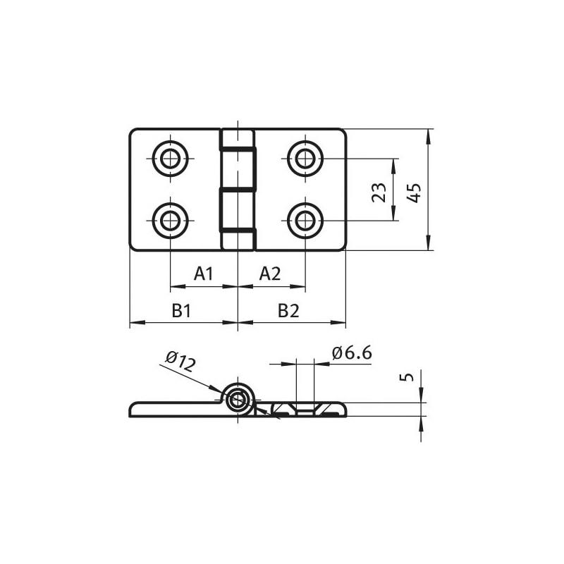 Scharnier Aluminiumdruckguss - 2