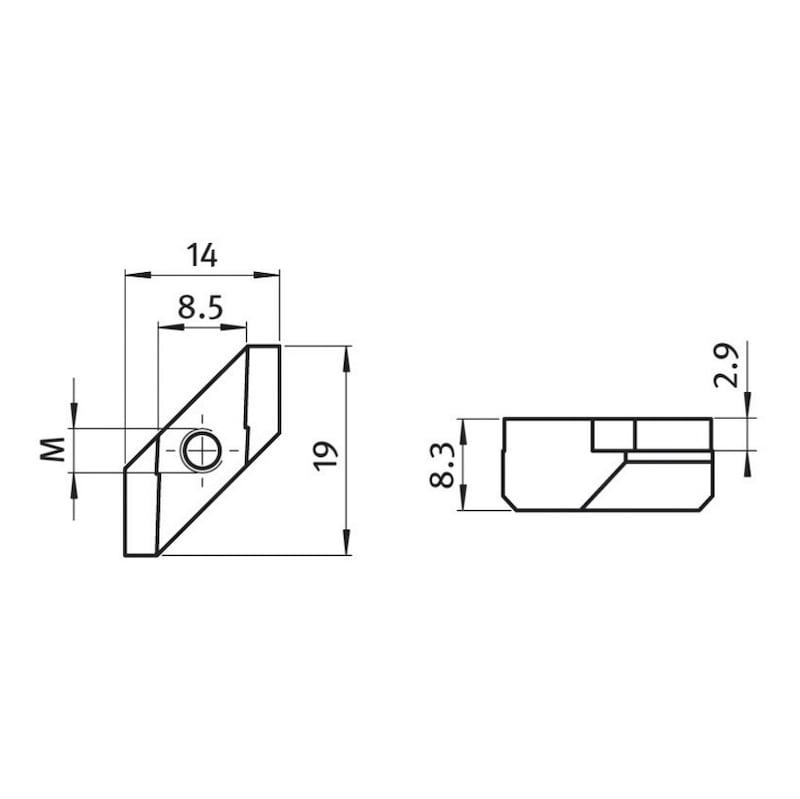 Rhombusmutter - 0
