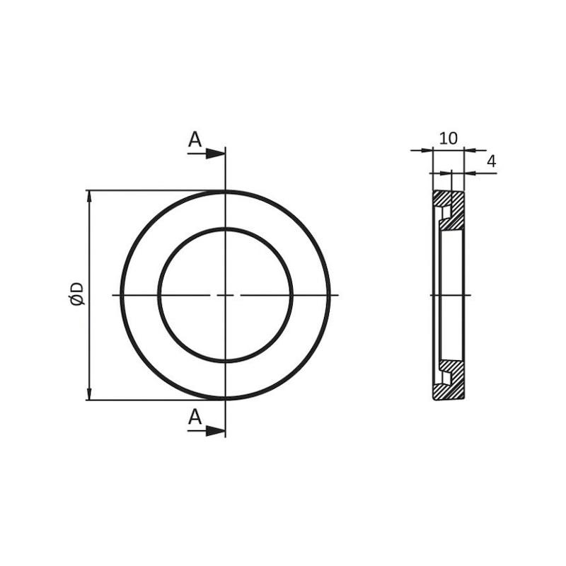 Antirutschplatte - ZB-ANTIRUPL-STLFU-PUR-SCHW-90-97,3MM