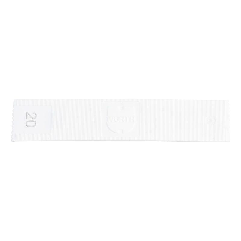 ガラス取り付けパッカー - ガラス設置用スペーサーブロック-20X1MM