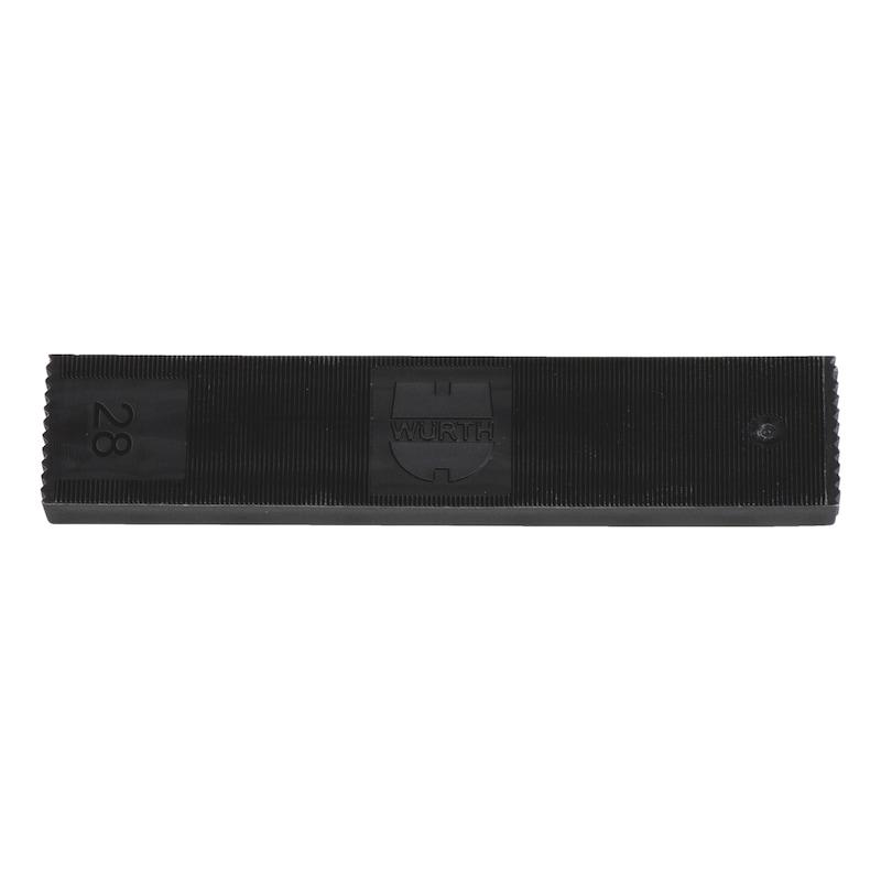 ガラス取り付けパッカー - ガラス用スペーサーブロック 幅28MM 厚さ6MM