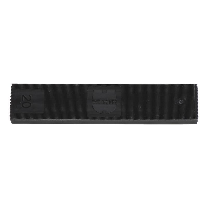ガラス取り付けパッカー - ガラス設置用スペーサーブロック-20X6MM