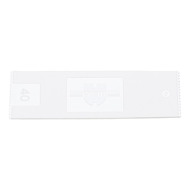 ガラス取り付けパッカー - ガラス設置用スペーサーブロック-40X1MM