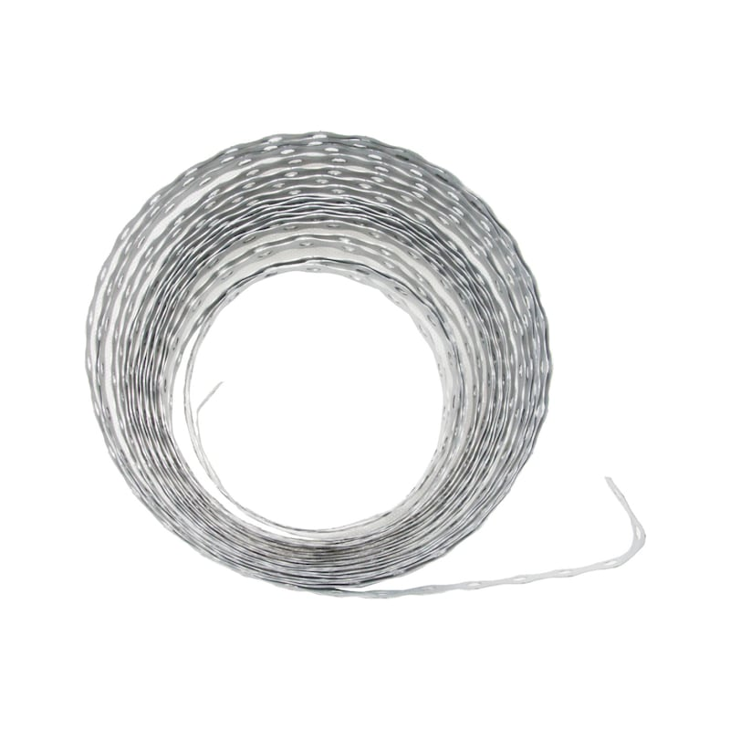 Crimped punched mounting strip without perforated edge - 3
