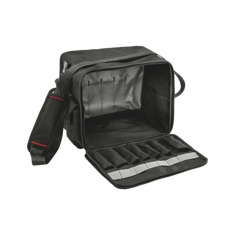 Sac à outils avec siège intégré  - SAC A OUTILS AVEC SIEGE PLIANT