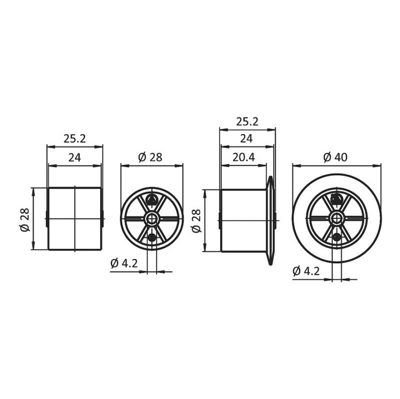 Rolle - ROLL-PA-GRAU-(ROLLSHN-AL)-SPURKRN-D28