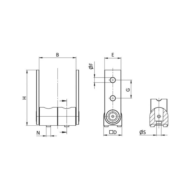 Gelenk - GELENKVERB-AL-180°-NUT8/10-42X141X45MM