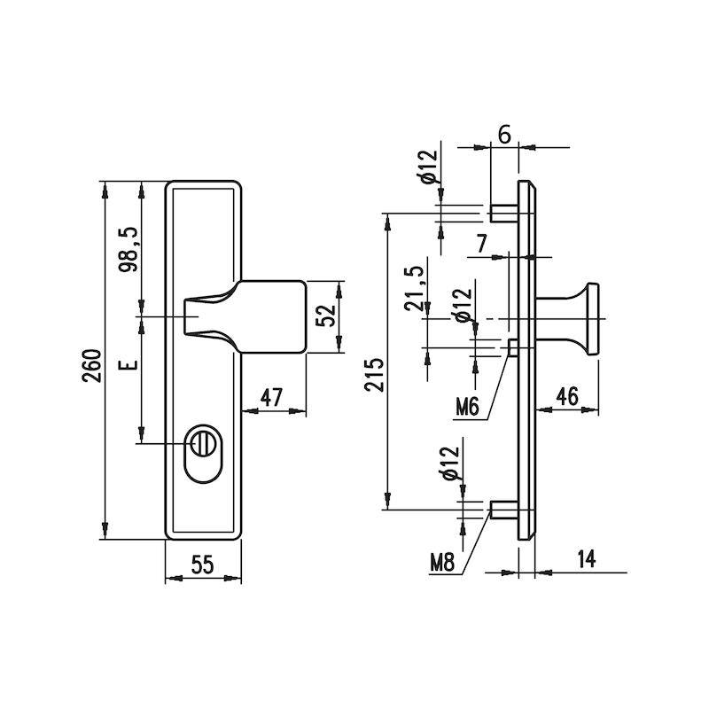 Aluminium-Schutzbeschlag S 33 - 2