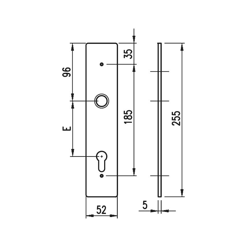 Aluminium-Schutzbeschlag S 33 - 4