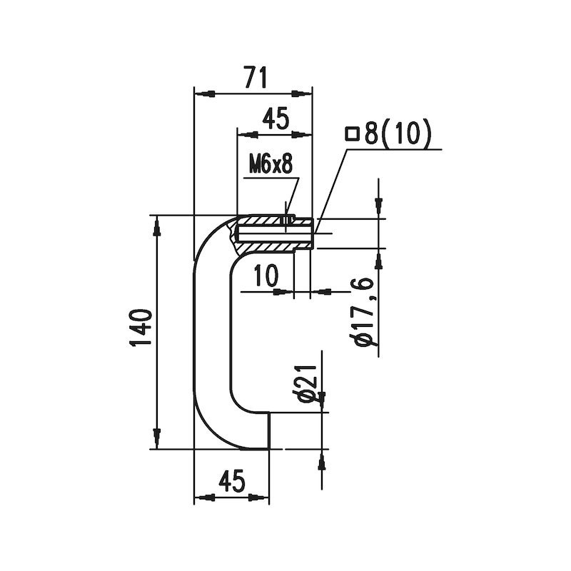 Aluminium-Schutzbeschlag S 33 - 5