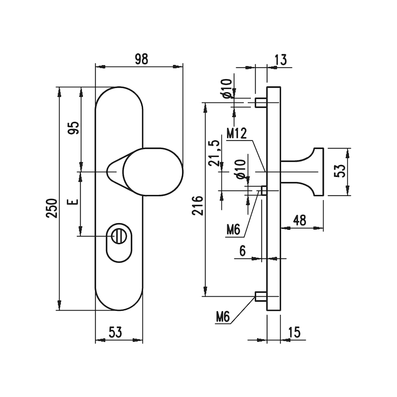 Aluminium-Schutzbeschlag S 40 - 0