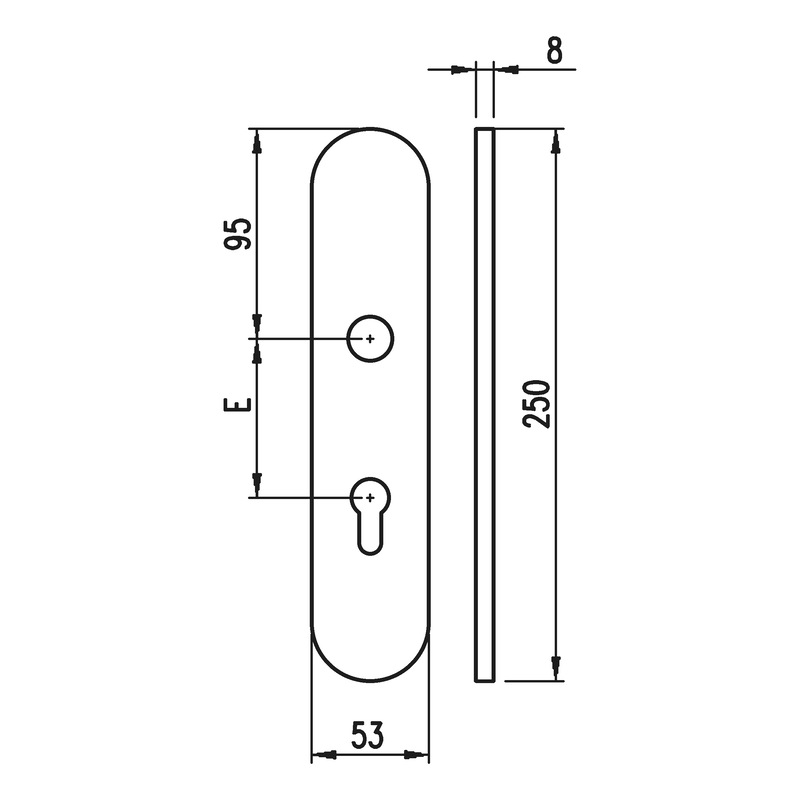 Aluminium-Schutzbeschlag S 40 - 4