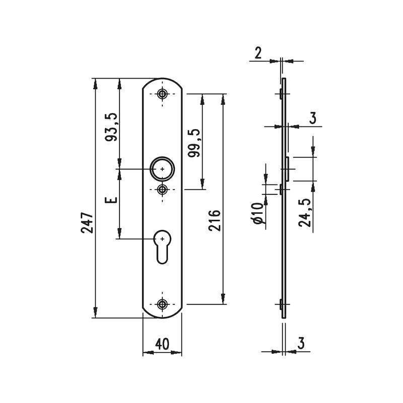 Aluminium-Schutzbeschlag S 40 - 1