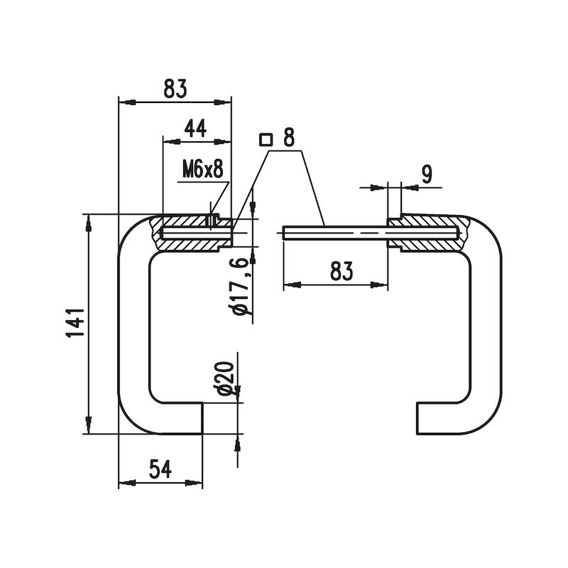 Aluminium-Schutzbeschlag  S 40 - 5
