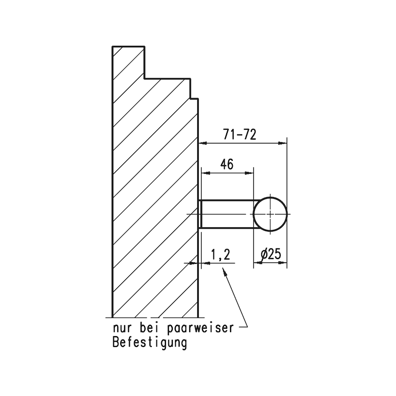 Door handle  ST/A100 - 3
