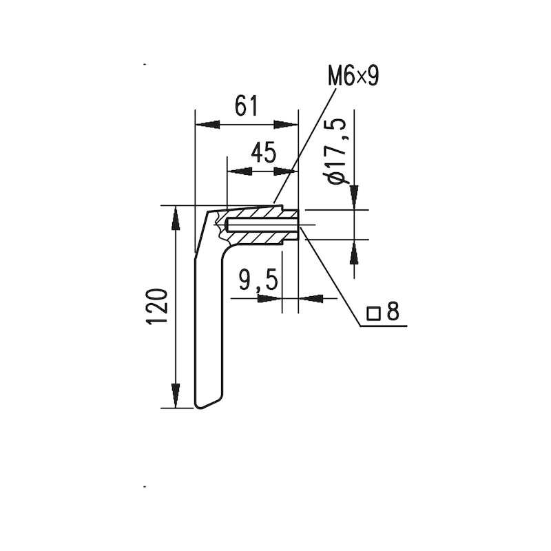 Aluminium-Schutzbeschlag S 31 - 5