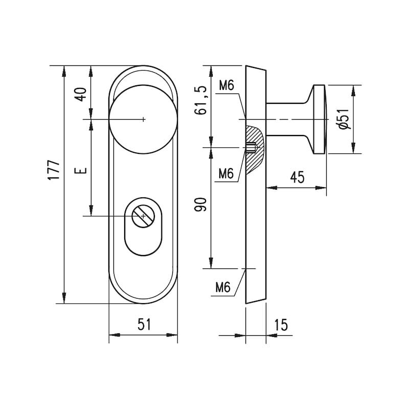 Aluminium-Schutzbeschlag  S 24 - 1