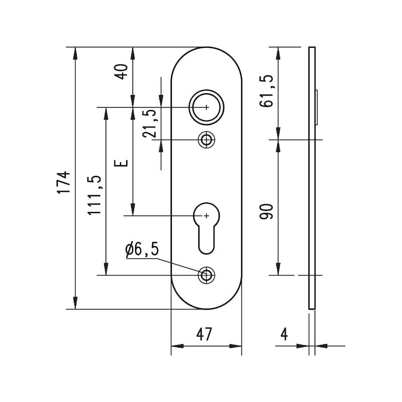 Aluminium-Schutzbeschlag  S 24 - 2