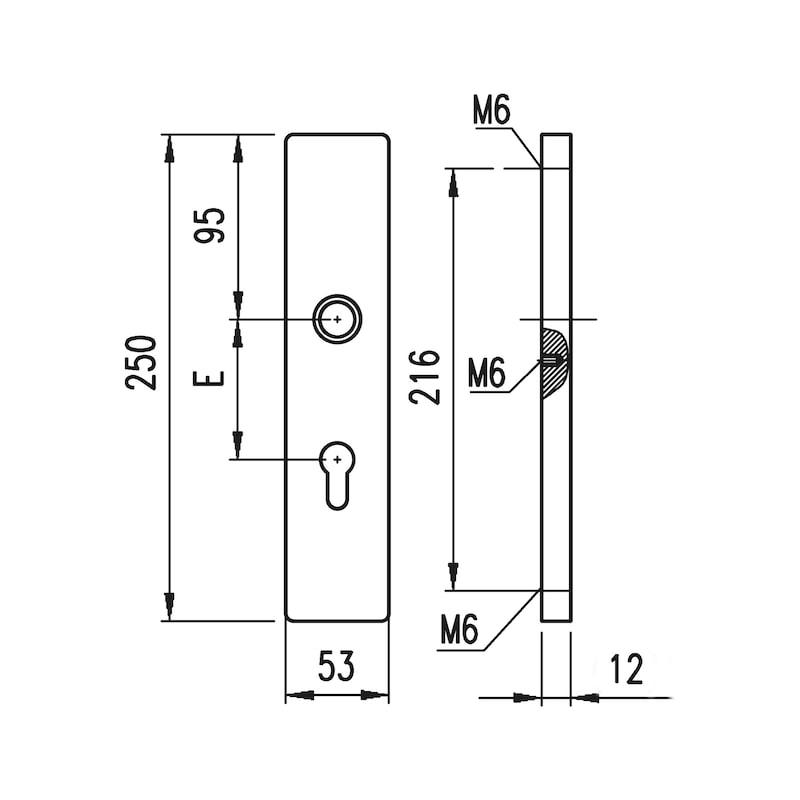 Aluminium-Schutzbeschlag  S 31 - 2