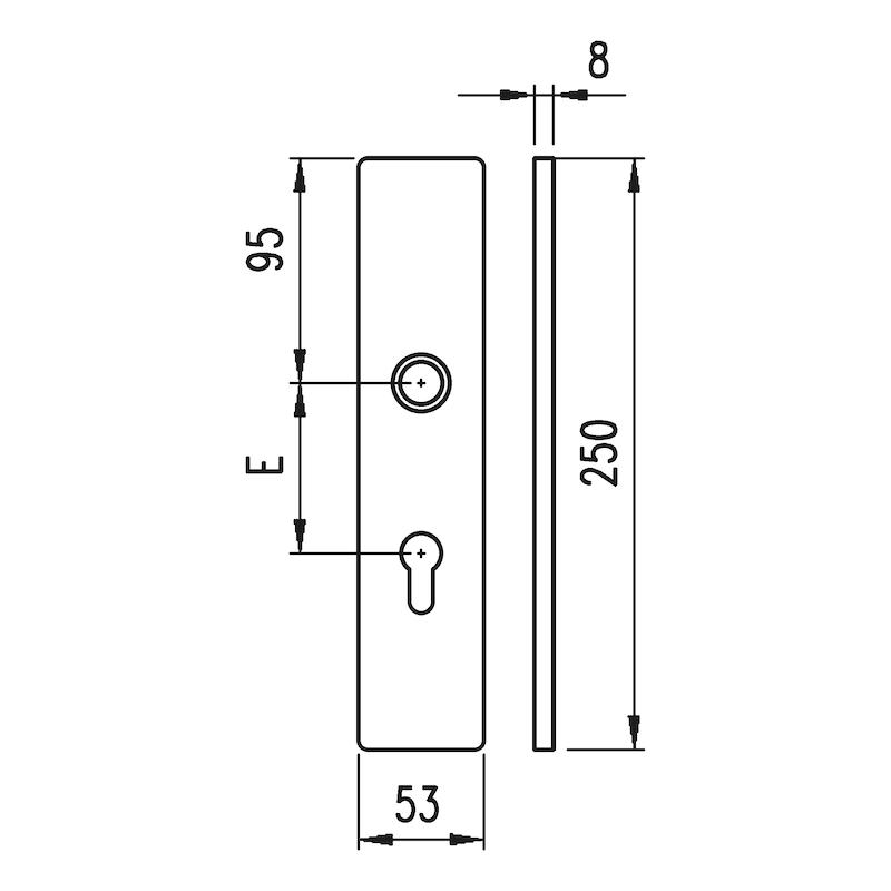 Aluminium-Schutzbeschlag  S 31 - 4