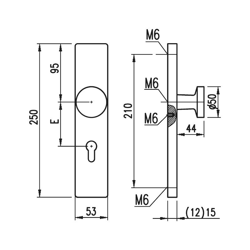 Aluminium-Schutzbeschlag S 30 - 2