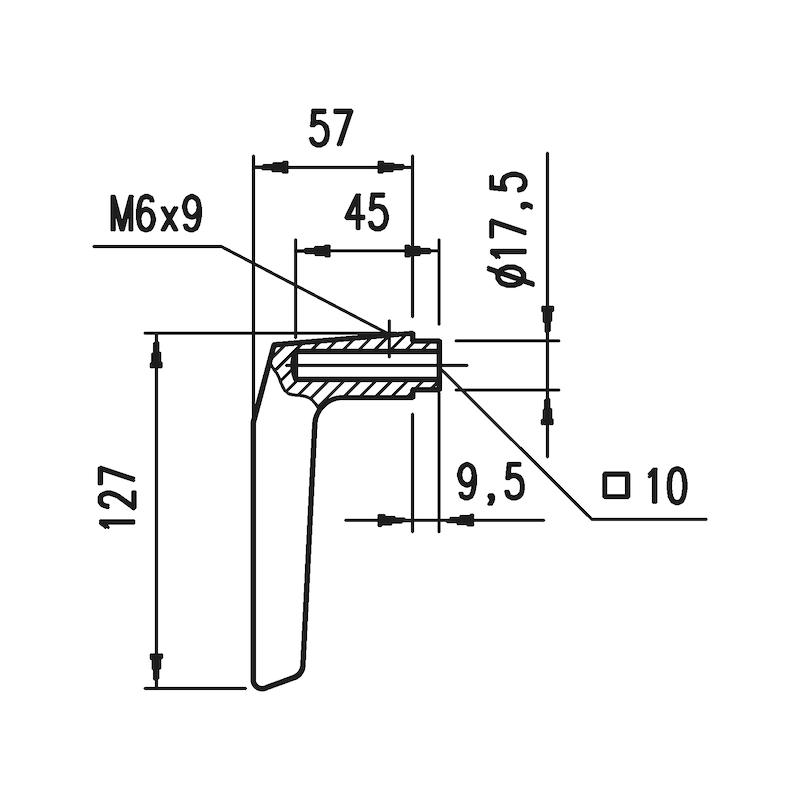 Aluminium-Schutzbeschlag S 30 - 4