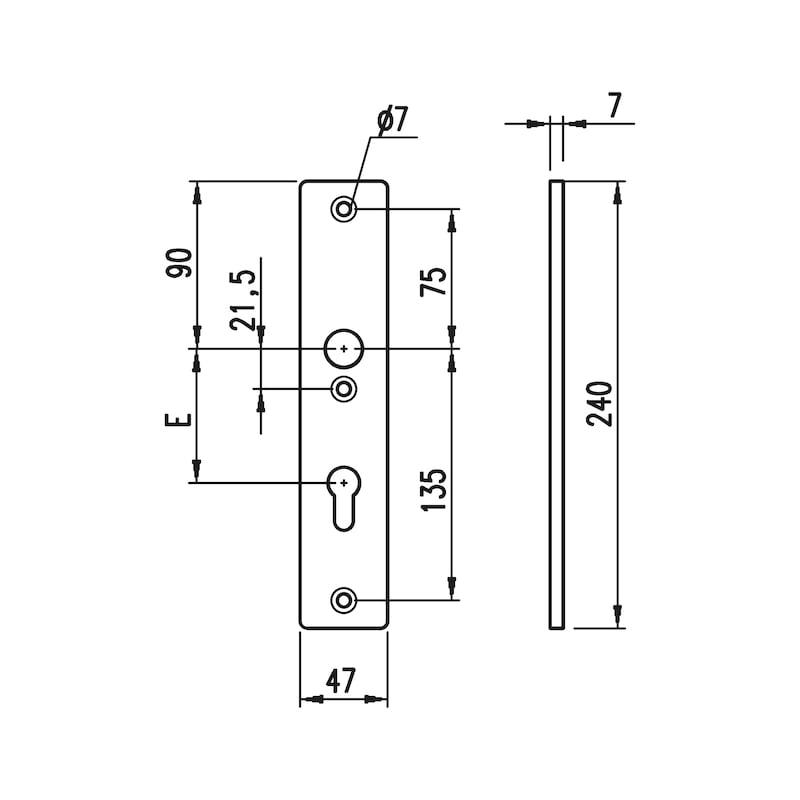 Aluminium-Schutzbeschlag S 30 - 3