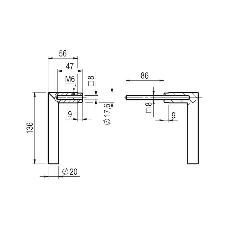 Aluminium-Schutzbeschlag S 45 - 5