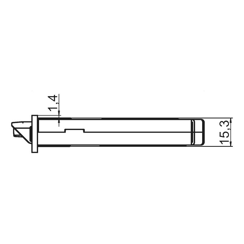 WC/ Bad-Objekttür-Einsteckschloss Klasse 3 - 4