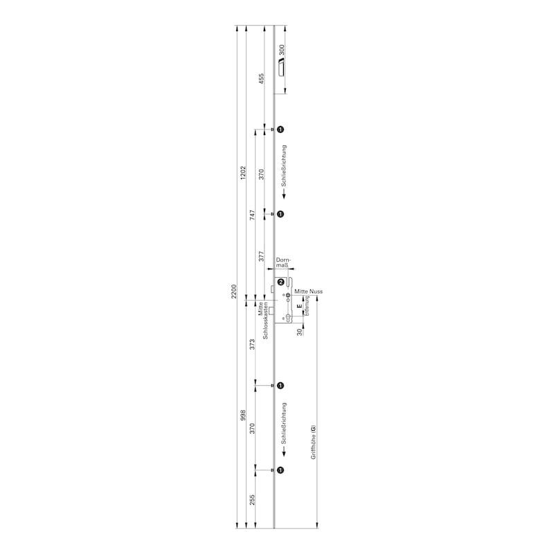 Mehrfachverriegelung Mit 4 V-Zapfen - 2
