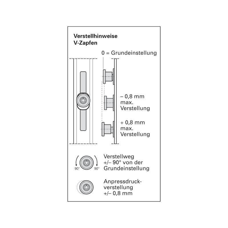 Mehrfachverriegelung Mit 4 V-Zapfen - 6
