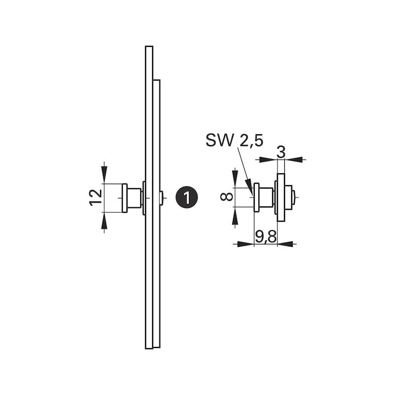 Mehrfachverriegelung Mit 4 V-Zapfen - 4