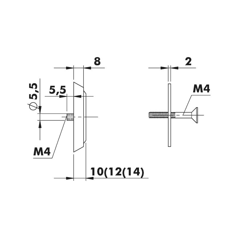 Die-cast zinc security rosette - 4