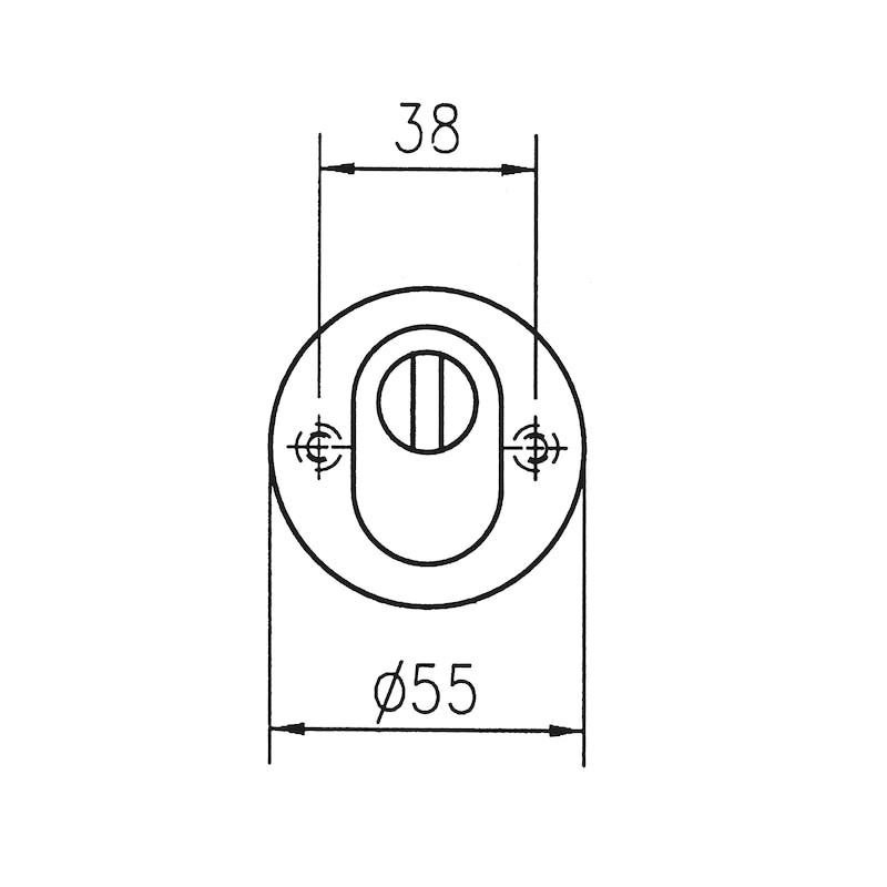 Edelstahl Schutzrosette - 2
