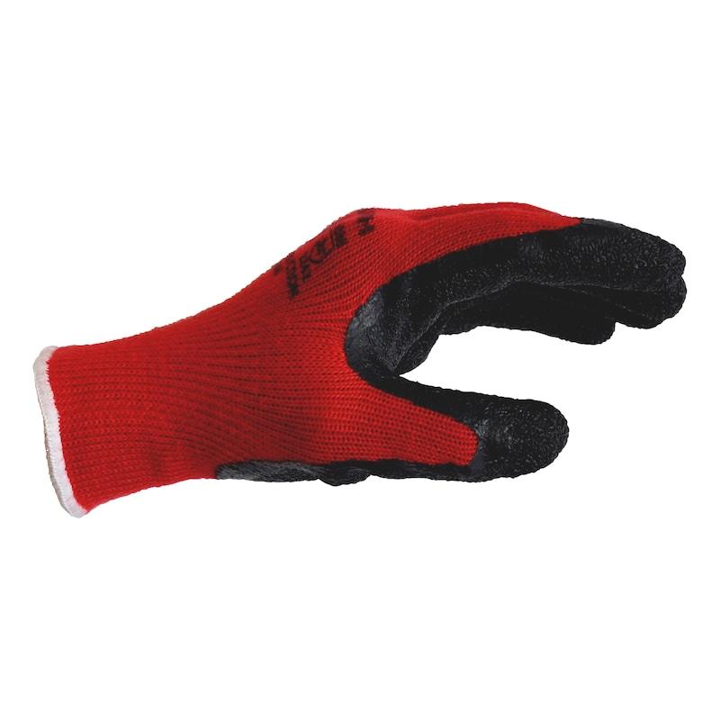 Gants tricotés Construction rouge