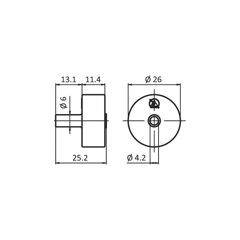 Rolle - ROLL-PA-ROT-(ROLLSHN-AL)-D26