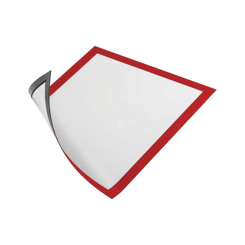 Info-Rahmen, magnetisch - DOKUHALT-MAGN-A4-ROT
