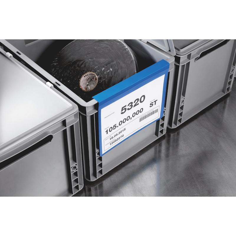 Kennzeichnungstasche mit Falz - 3