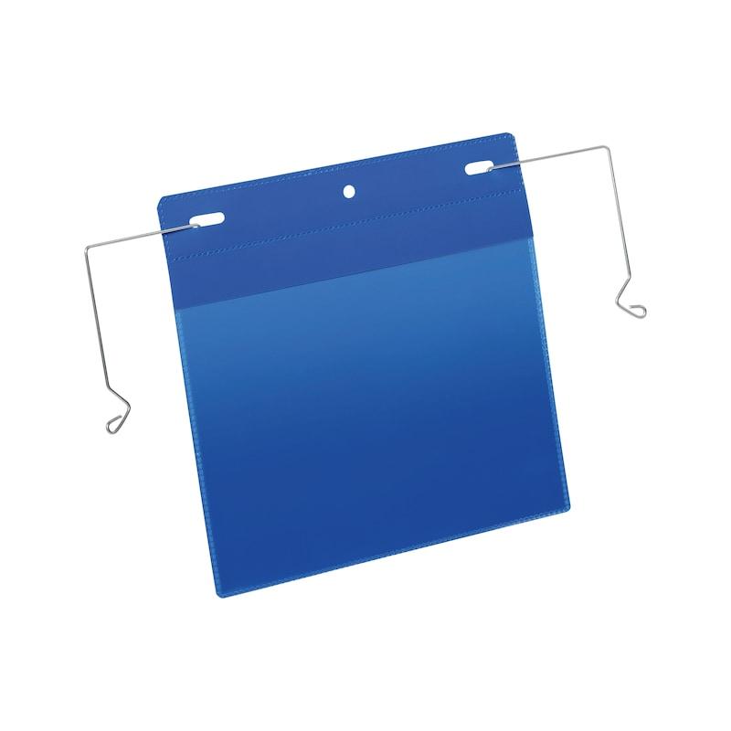 Kennzeichnungstasche mit Drahtbügel - 1