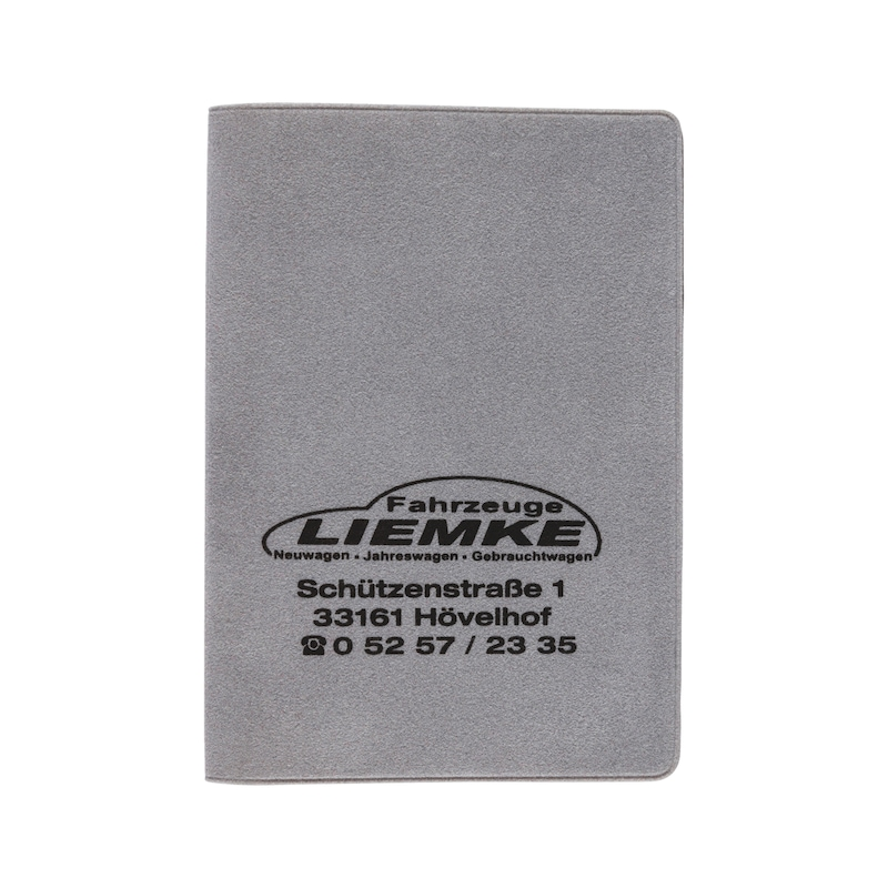 Velour driving licence wallet - HOLD-VELOUR-GREY-1COL